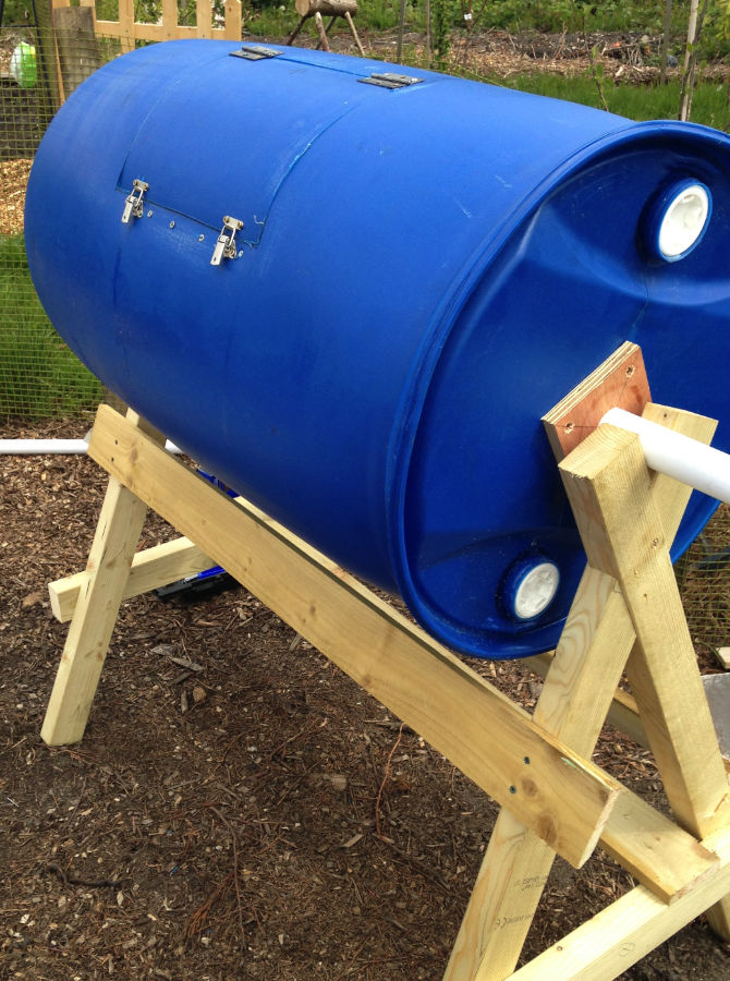 How to Build a DIY Compost Tumbler - Growseed Blog